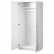 دولاب ملابس مع 2 أبواب ايكيا , أبيض80x180 سم